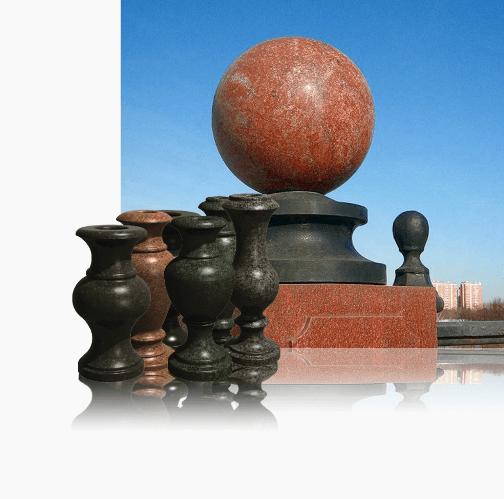 гранитные вазы и шары